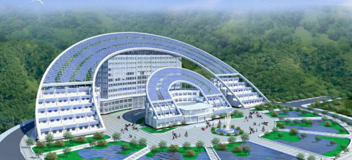 Business school in the Solar Valley China